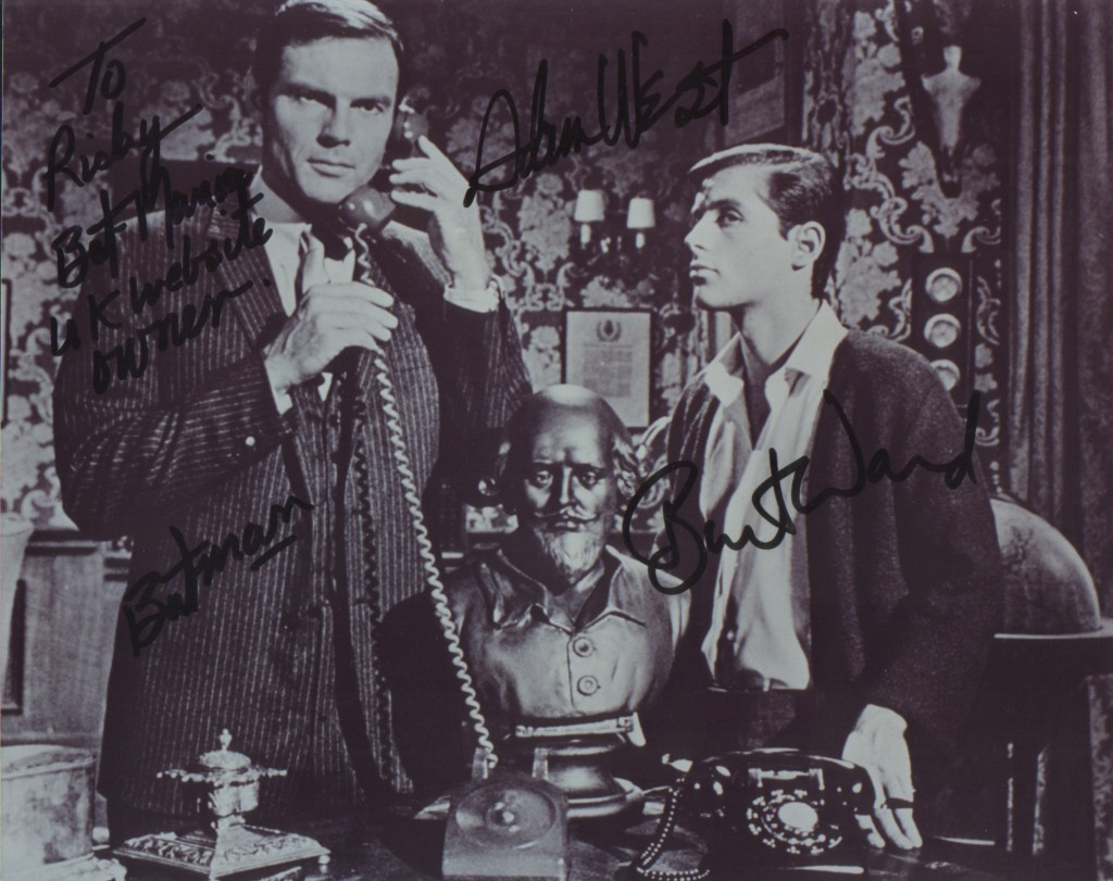 Batman (Adam West) & Robin (Burt Ward) signed photograph