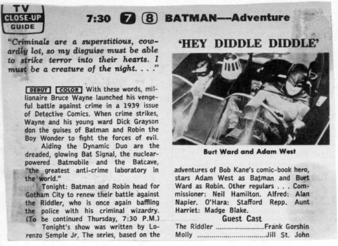 Batman TV Guide US