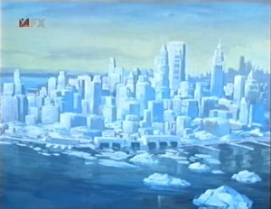 Gotham City iced over