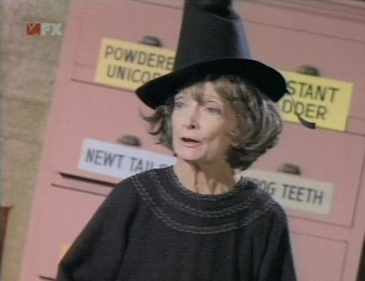 Estelle Winwood as Aunt Hilda in Batman