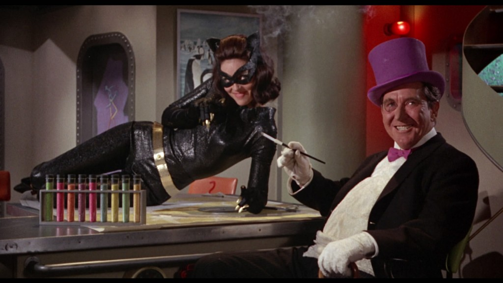 Catwoman (left) with The Penguin (right)