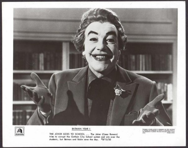 The Joker Goes to School. 1966 Batman Joker played by Cesar Romero