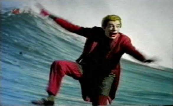 The Joker surfing