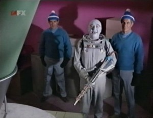 Mr. Freeze with henchmen