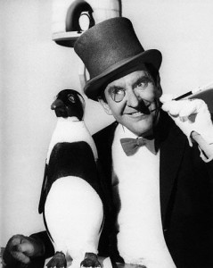 "Burgess Meredith as the Penguin in the TV Series ""Batman""."