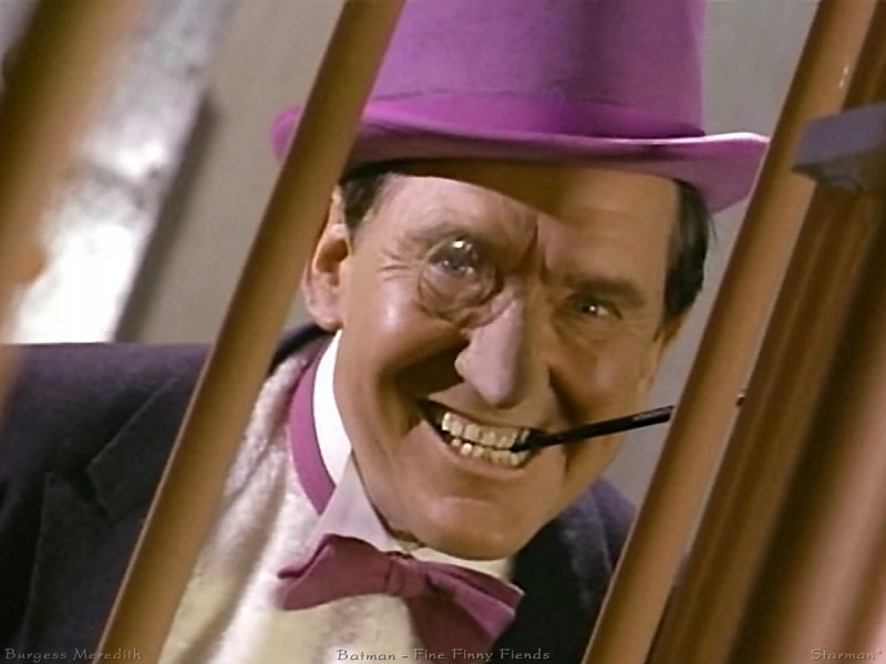 Burgess Meredith as the Penguin in Batman