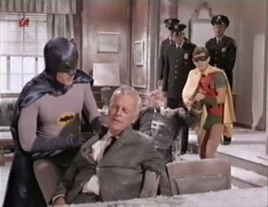 Commissioner Gordon's office frozen by Mr. Freeze