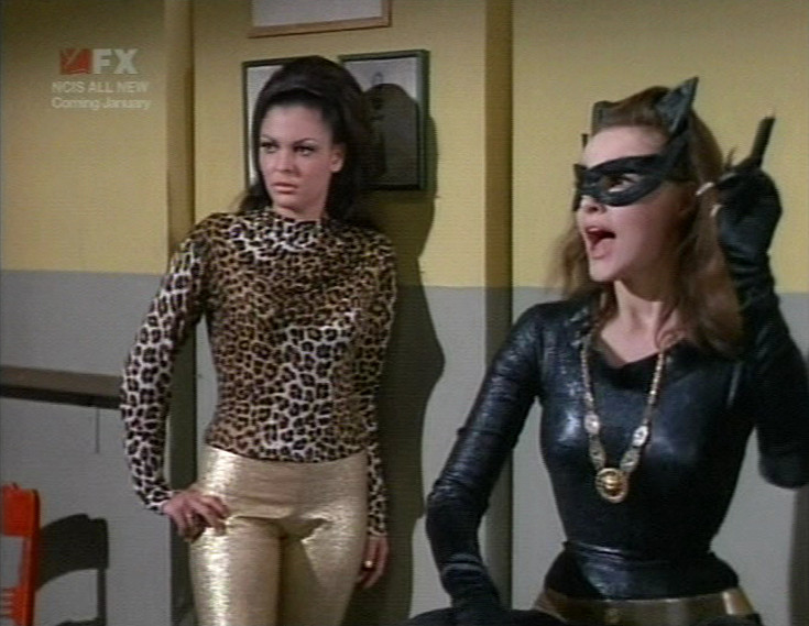 Sharyn Winters as Eenie with Julie Newmar's Catwoman